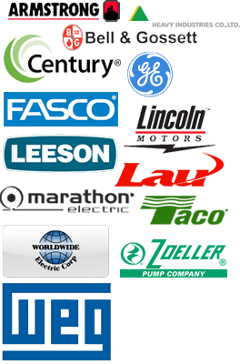 Leeson, GE, Fasco, Century, Marathon, Bell & Gosset, Armstrong, Lincoln Motors, Taco, We repair ANY brand!